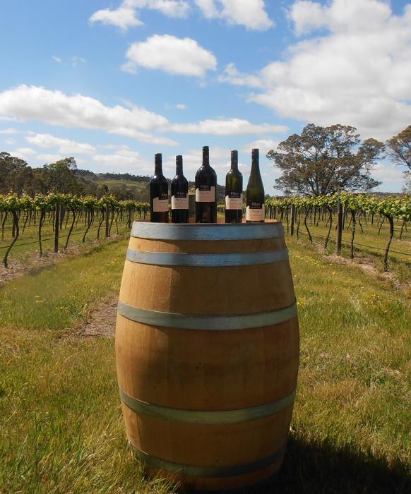 Rileys of Eden Valley Wine Barrel in Vineyard